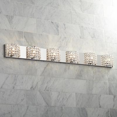 "VIENNA Full Spectrum Cesenna 55""W 6 Light Crystal Bath Light"
