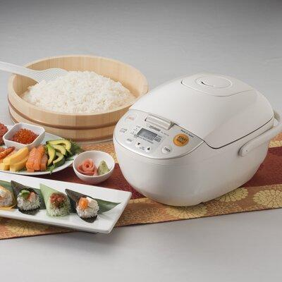 Zojirushi Micom Rice Cooker and Warmer White 5 Cup Japan, Beige/Bisque