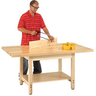 "Diversified Woodcrafts Wood Top Workbench W- Size: 48"" W x 24"" D, Surface: 2.25"" Maple Top"