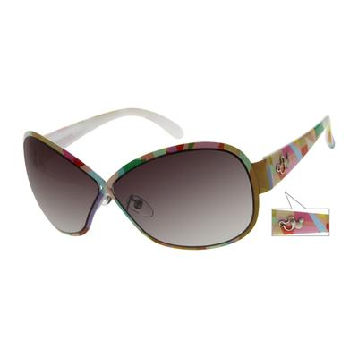 Zenni Womens Sunglasses Pattern Frame Mixed Materials A10141229
