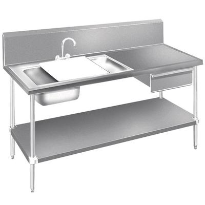 Advance Tabco DL-30-96 Stainless Steel Prep Table with Si...
