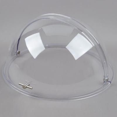 "Tablecraft PC2 Round Polycarbonate Roll Top Lid - 19"" x 10"""