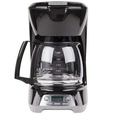 Proctor Silex 43672 Black Programmable 12 Cup Coffee Make...