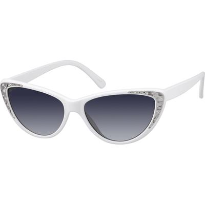 Zenni Womens Cat-Eye Sunglasses White Frame Plastic A10120030