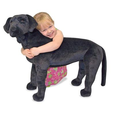 Melissa and Doug Black Lab Plush Toy, Multicolor