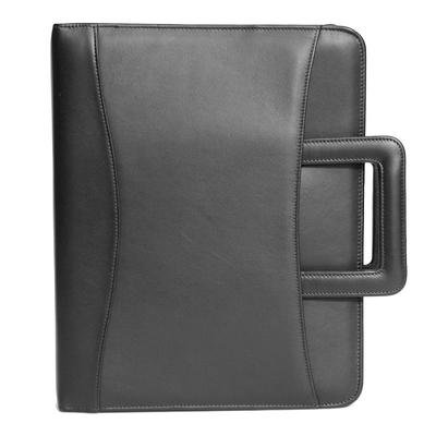 Royce Leather Binder Padfolio, Black
