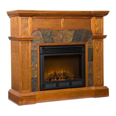 Cartwright Convertible Electric Fireplace, Multicolor
