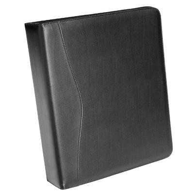 Royce Leather 2-in. D Ring Binder, Black