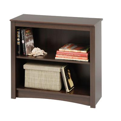Prepac 2-Shelf Bookcase, Brown
