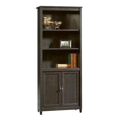 Sauder Edge Water Library Bookcase, Black
