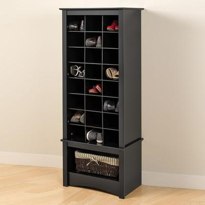 Tall Shoe Cubby Cabinet, Black