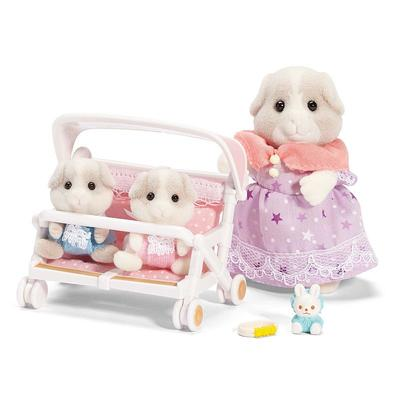 Calico Critters Patty and Paden's Double Stroller Set, Multicolor