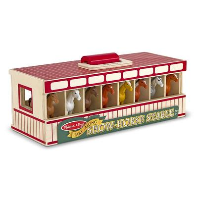 Melissa and Doug Take-Along Show-Horse Stable, Multicolor