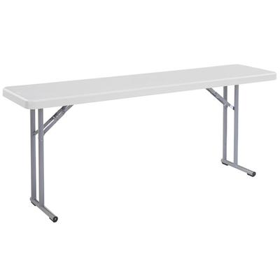 "National Public Seating BT-1872 18"" x 72"" Speckled Gray P..."