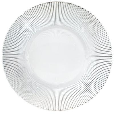 """The Jay Companies 13"""" Round Clear Sunray Glass Charger Plate"""