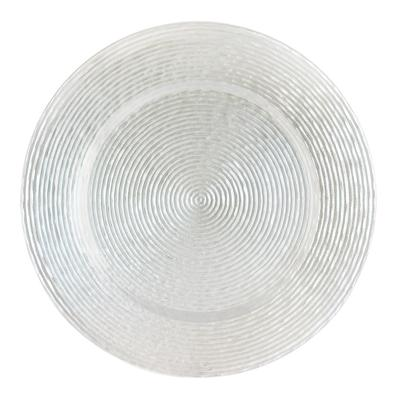 "The Jay Companies 13"" Round Circus White Glass Charger Plate"
