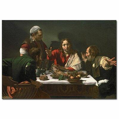 """Trademark Art """"The Supper at Emmaus 1601"""" by Caravaggio P..."""