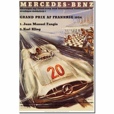 "Trademark Art ""Merecedes-Benz"" by H. Liskars Framed Vinta..."