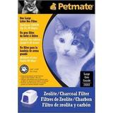 Petmate Zeolite Basic Litter Box Filter, Large | White Wine Red
