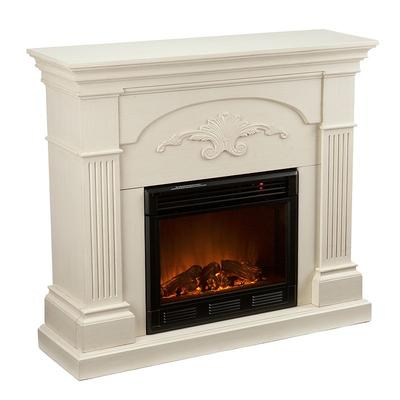 Sicilian Electric Fireplace, White