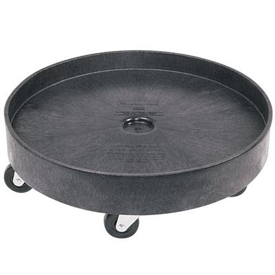 Rubbermaid FG265000BLA Black Universal Drum Dolly for FG2...