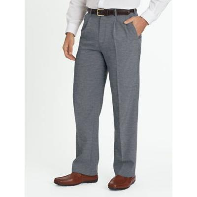 Men's John Blair Pleated Front Slacks, Grey Size 44 L