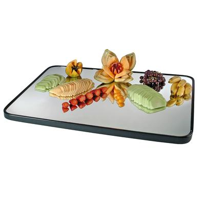 "CAL-MIL RR403 28"" x 40"" Rectangular Mirror Tray with Rais..."