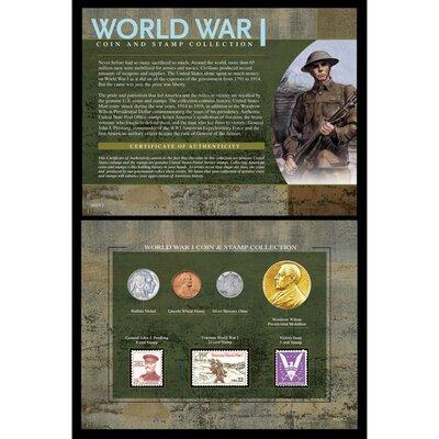 American Coin Treasure World War I Coin and Stamp Framed ...