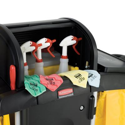 Rubbermaid FG9T7500BLA High Security Janitor Cart