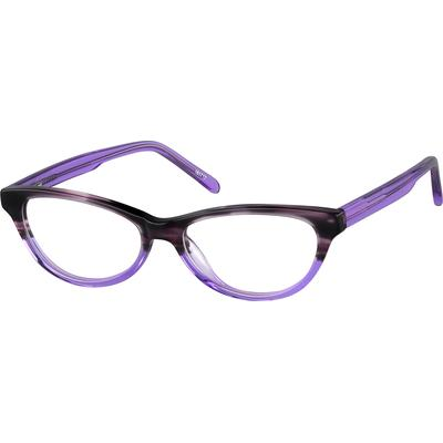 Here's a cool retro look that's sized for girls. These two-tone full-rim cat-eye frames come fitted with stainless steel rods embedded into the temple arms for easy adjustments plus spring hinges which provide added comfort and protection against...