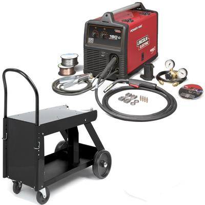 Lincoln Power MIG 180C MIG Welder Pkg. With Deluxe Cart K520