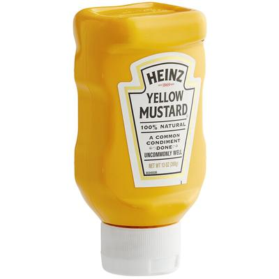 Heinz Yellow Mustard 13 oz. Upside Down Squeeze Bottle