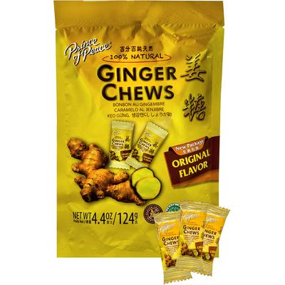 Prince Of Peace 100% Natural Ginger Candy Chews-4.4 oz Bag