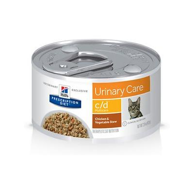 Hill's Prescription Diet c/d Multicare Urinary Tract Chicken & Vegetable Cat Food, 2.9-oz, 24 ct