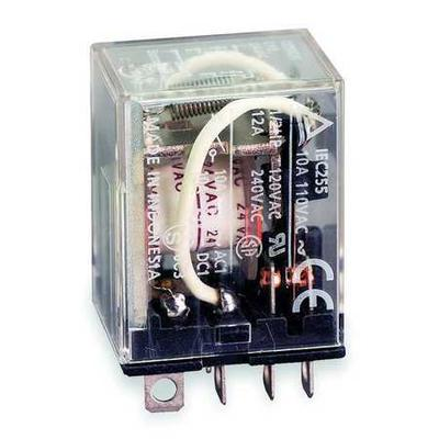 OMRON LY2-AC24 Relay, 8Pin, DPDT, 10A, 24VAC