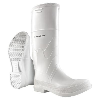 Dunlop Size 10 Knee Boots, Men's, White, Steel Toe, Onguard