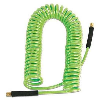 Legacy Coiled Air Hose,3/8 in.,50 ft.,Green
