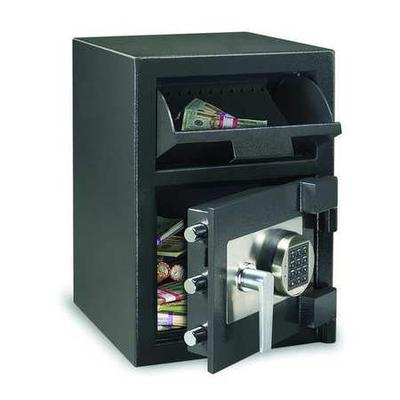 Black Cash Depository Safe, 0.94 cu. ft. Capacity, DH-074...