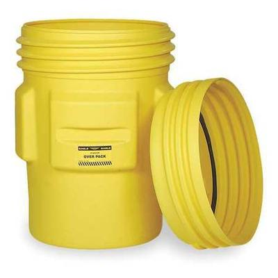 Eagle Overpack Drum,Open Head,95 gal.,Yellow