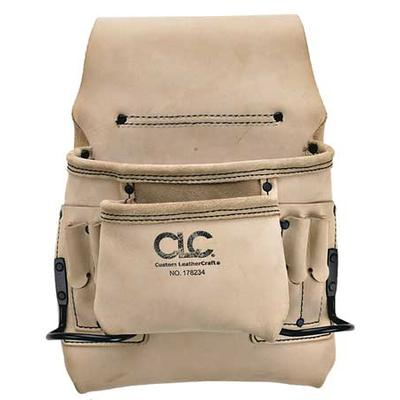 Clc Carpenters Nail & Tool Pouch, Leather, 178234