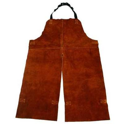 Condor Split Leg Welding Bib Apron, Leather, 4KXH5