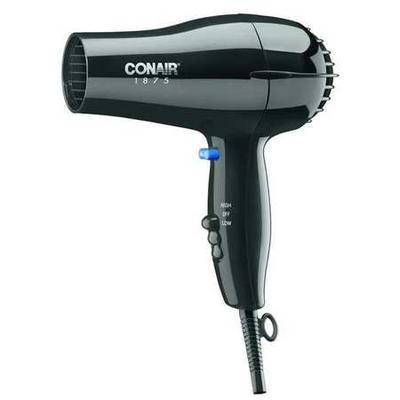 Conair 247BW Hairdryer, Handheld, Black, 1875 Watts