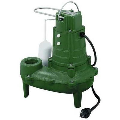 "Zoeller Waste-Mate 1/2 HP 2"" Auto Submersible Sewage Pump 115V Vertical"