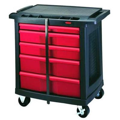 Rubbermaid FG773488BLA Trade Cart/Service Bench, 19-13/16...