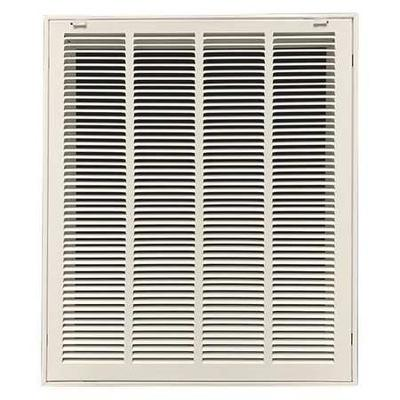 VALUE BRAND 4JRT8 Return Air Filter Grille, 25x20 In, White