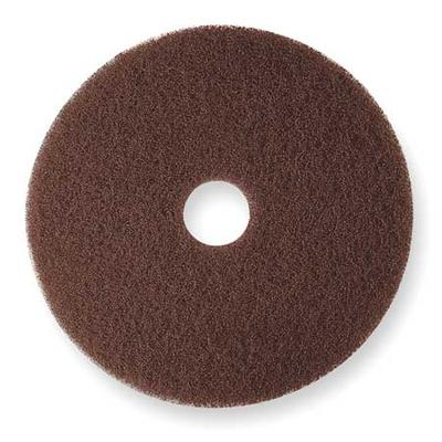 3M 7100 Stripping Pad, 20 In, Brown, PK 5