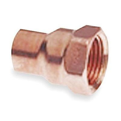 "Nibco 1"" NOM C x 1/2"" FNPT Copper Reducing Adapter"