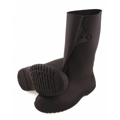 Overboots,Mens,L,Button Tab,Blk,PVC,PR TINGLEY 35141