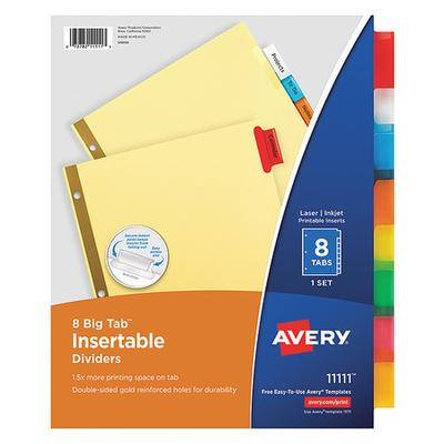 Insertable Index Divider, Buff ,Avery, 11111