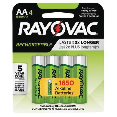 Precharged Rechargeable Batteries, Rayovac, LD715-40P